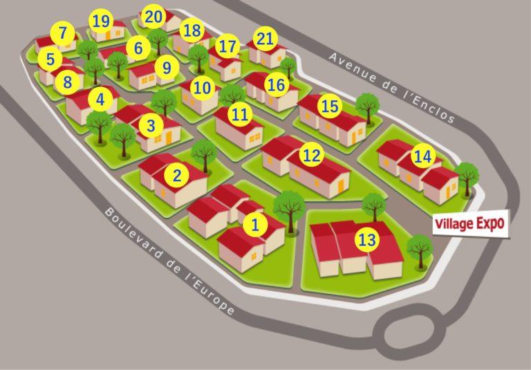 Plan Village Expo Toulouse